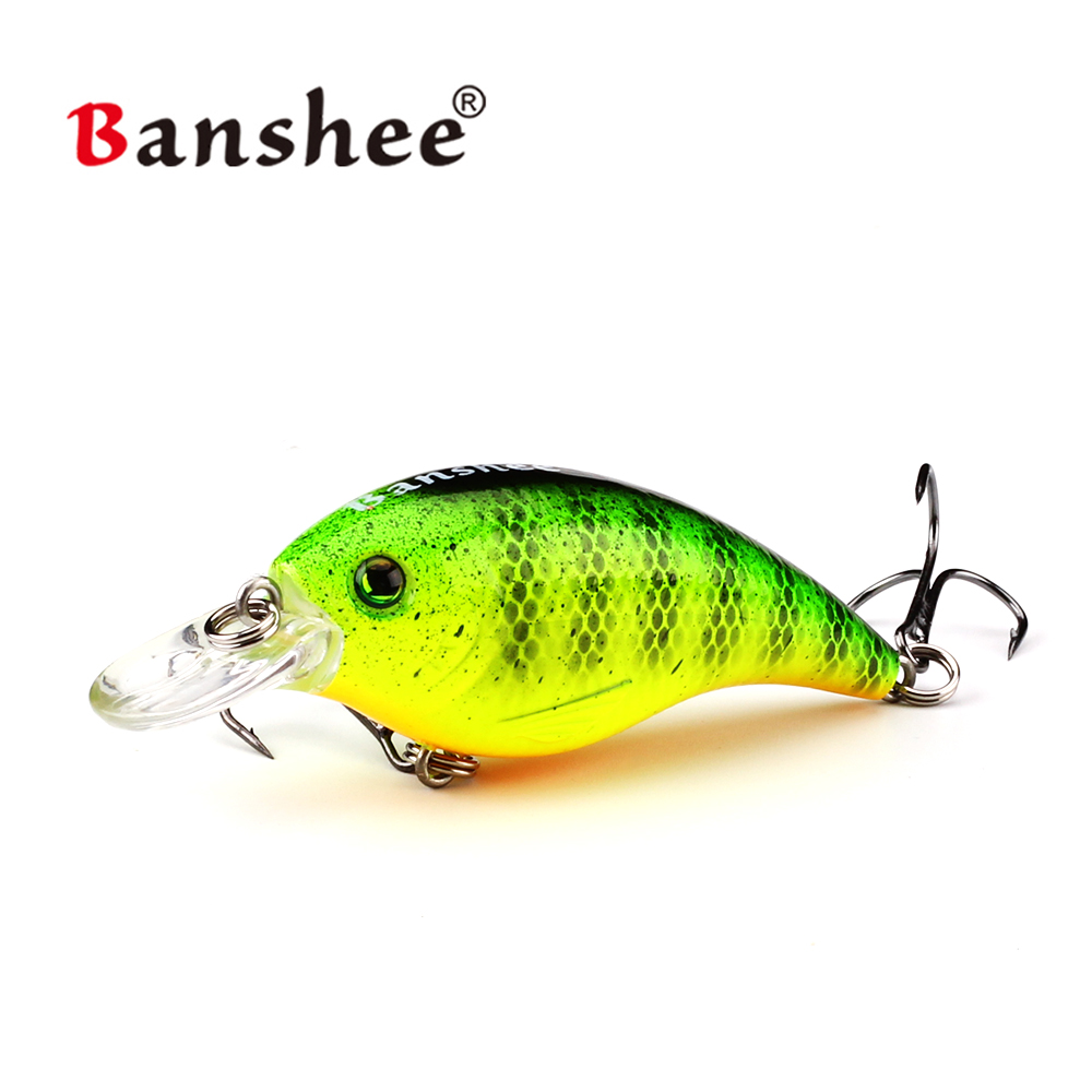 Banshee 60mm 10g <font><b>Thrill</b></font> Thunder Floating Fishing Lure Rattle Sound Wobbler Artificial Hard Bait Shallow Diving Crankbaits