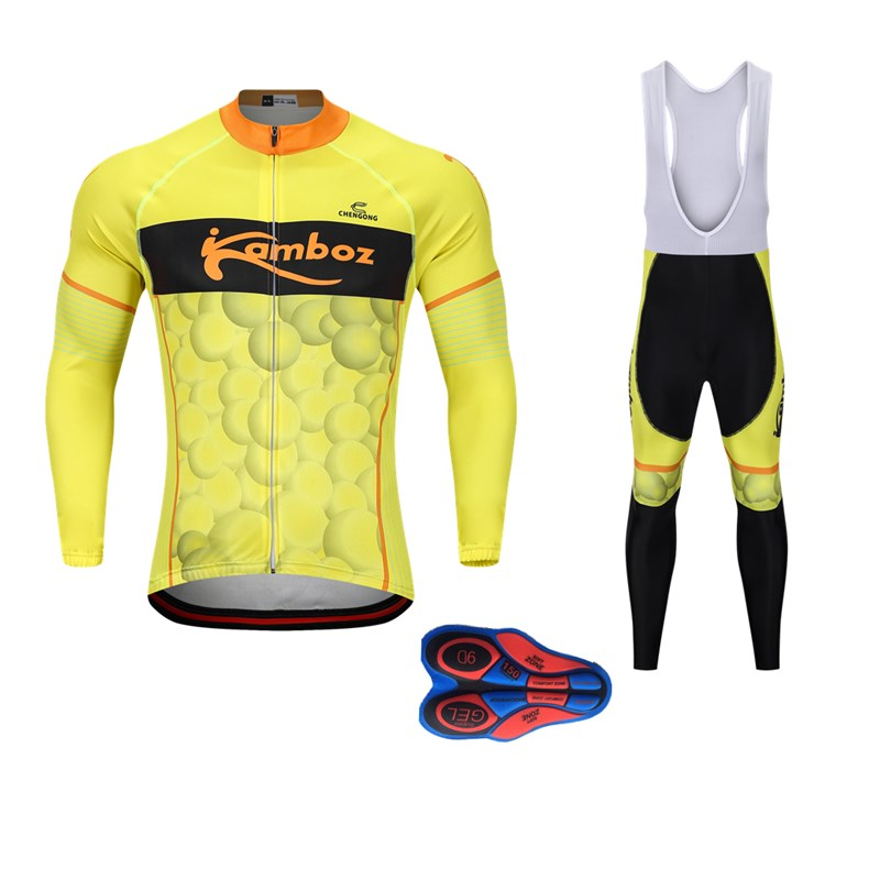 Men Thermal Fleece Winter Cycling Jersey Sets Long Sleeve Outdoor Sports Bicycle Cycling Clothing Quick Dry 9D Riding Clothes
