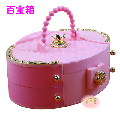doll Christmas jewelry box storage box comb necklaces and other