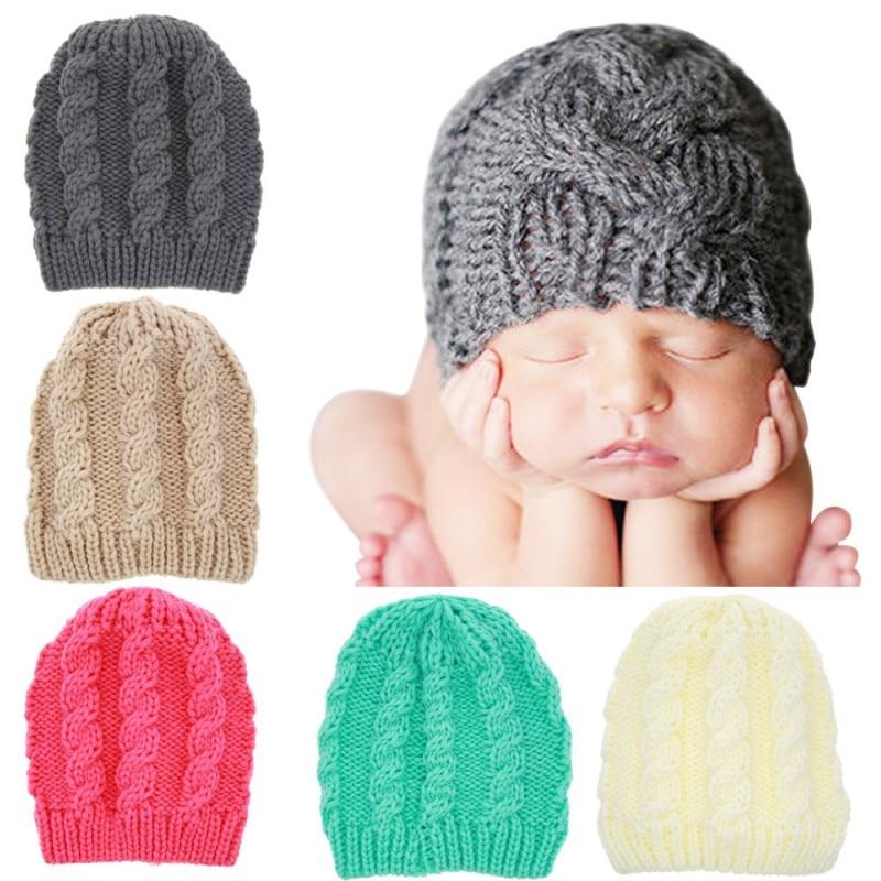 Newborn Baby Hats Warm Knit Hat Child Pure Cotton Wool Cap Baby Boy Girls Cap Toddler Infant Lovely Rabbit Beanie Caps A