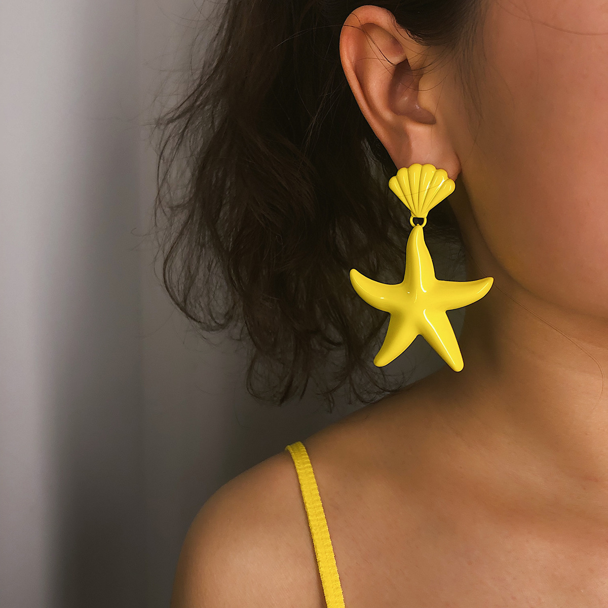 Star earrings female ethic shell starfish earrings Hanging Earrings For Women Vintage Drop Earrings Fashion Jewelry Gift in Drop Earrings from Jewelry Accessories