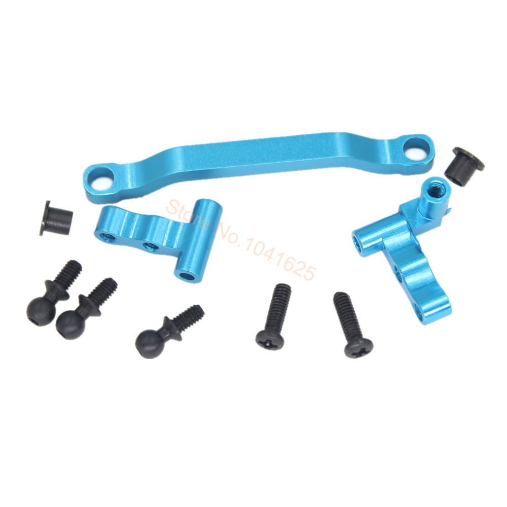 WLtoys A959 Parts Upgrade Aluminum Steering Linkage A949-08 Fit A949 A969 K929 A979 Spare Accessories HSP 1/18 RC Car 82910 ricambi x hsp 1 16 282072 alum body post hold himoto 1 16 scale models upgrade parts rc remote control car accessories