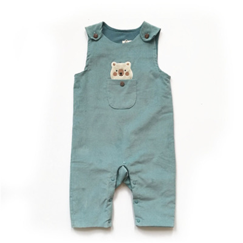 Cute baby kid Jumpsuits Pocket   rompers   Candy Color sleeveless baby Girl   Rompers   Overalls Jumpsuits Boy kid Outfit Clothes