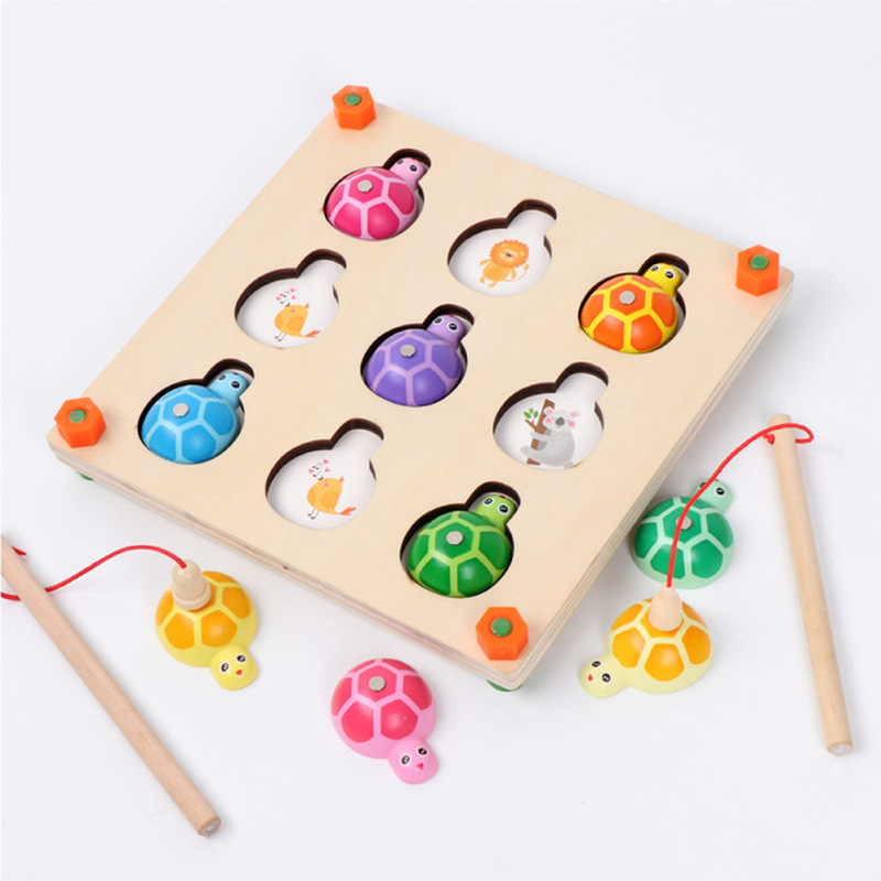 New Magnetic Fishing Educational Toys Children's Memory Games Parent Child Interactive Fishing Turtle Toy Educational Toys
