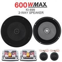6.5 Inch 12V 600W 2 Way Universal Car Speaker Subwoofer Treble Midrange Bass Speaker Loudspeaker Component System