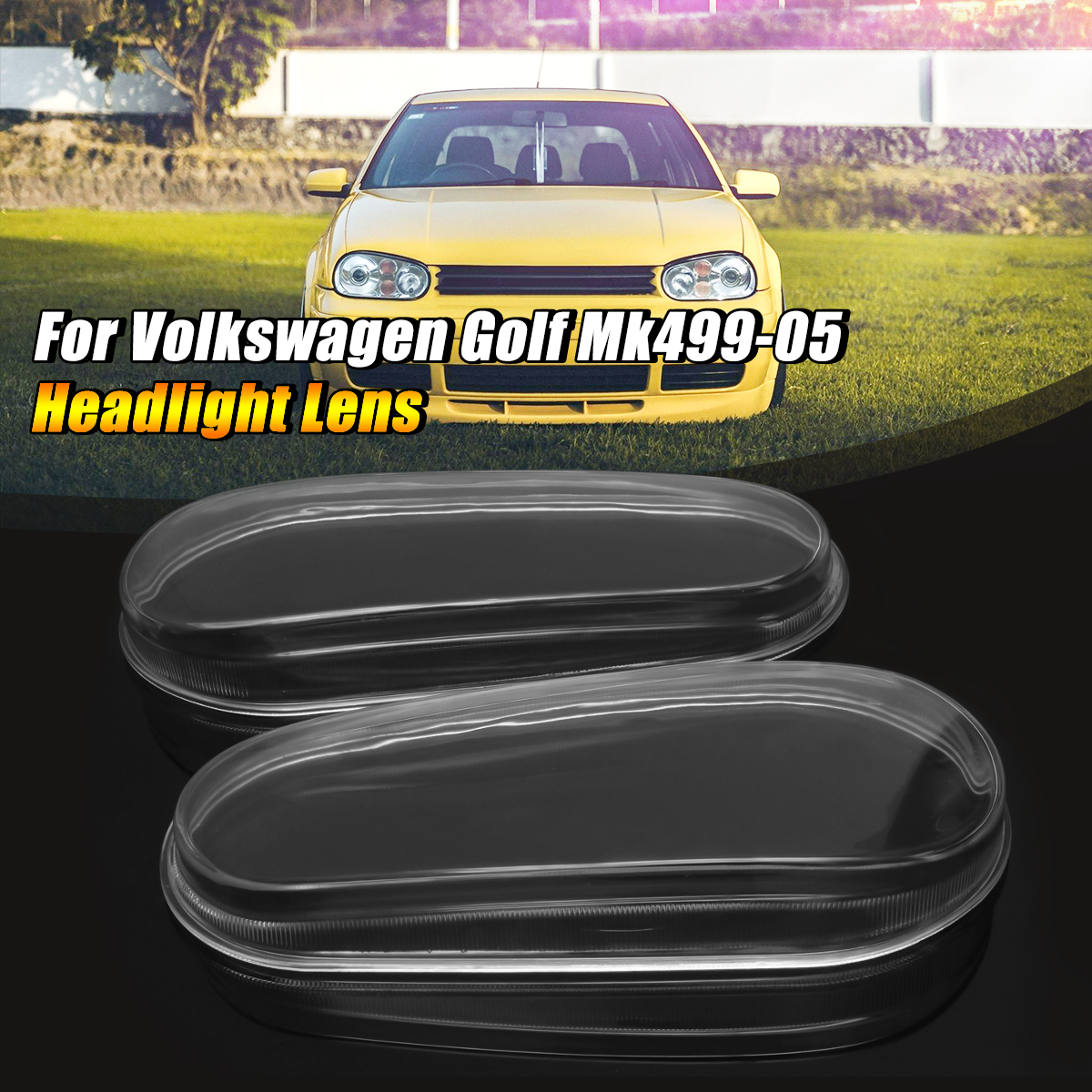 Car Glass Lens Headlight Lamp Housing Cover For VW MK4 Golf GTI R32 1999 2000 2001 2002 2003 2004 2005