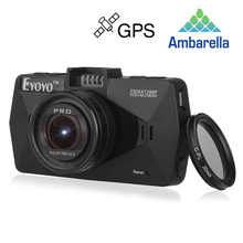 Eyoyo A7810 Auto Blackbox VS Mini 0806 Ambarella A7LA70 Super HD 1296 P DVR Carcam GPS Logger CPL Filter