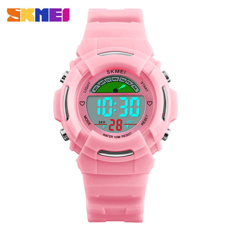 Children's Watches Fashion Children Kids Digital Electronic Wristwatch Students Boys Girls Waterproof Sports Wrist Watch El Light Alarm Stopwatch