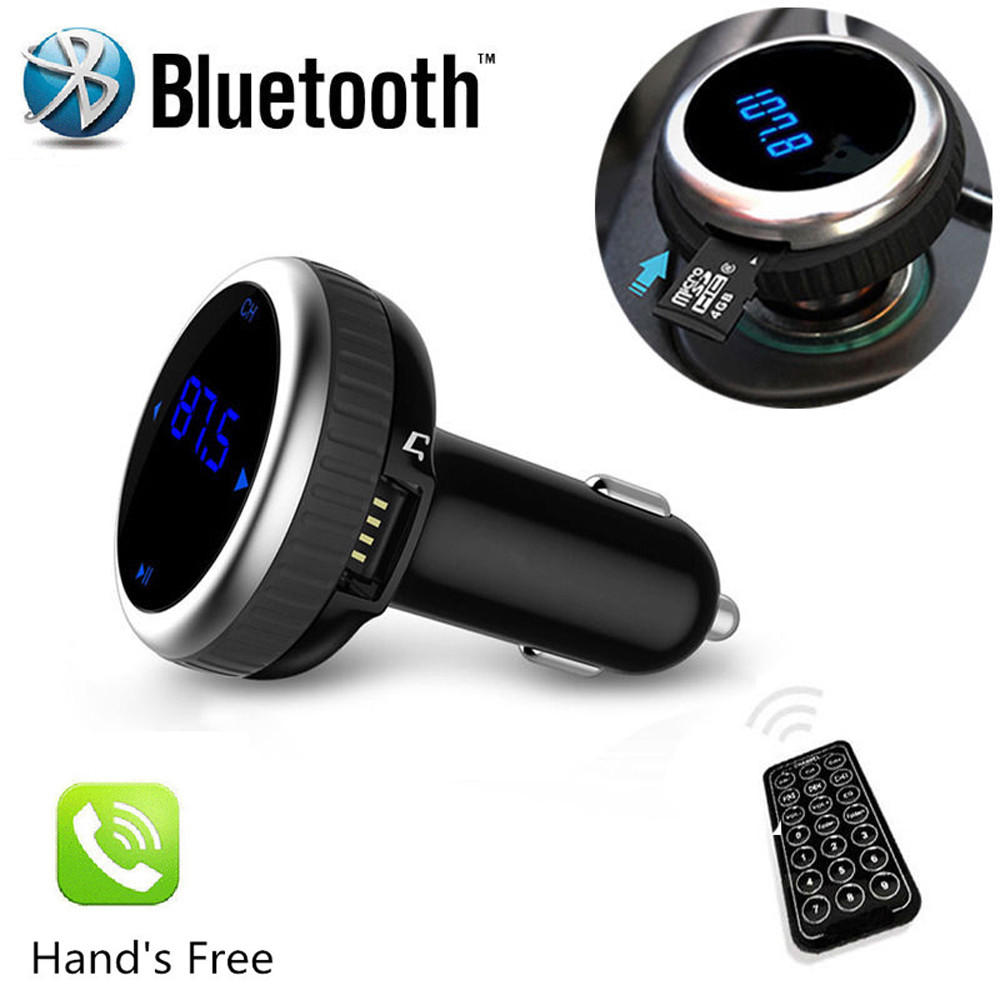 Wireless Bluetooth LCD FM Transmitter Modulator Car Kit MP3 Player SD w Remote 87 5 108