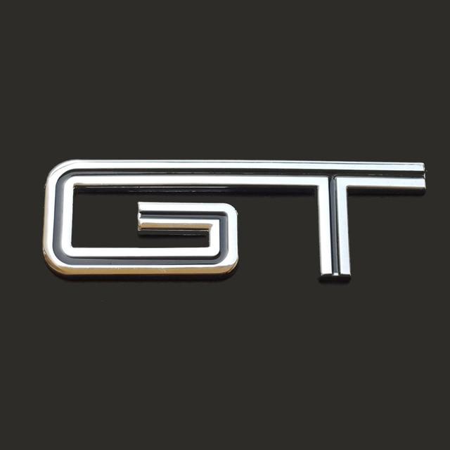 Car Auto D Gt Symbol Aluminium Alloy Body Rear Emblem Badge Sticker For Ford Mustang Shelby