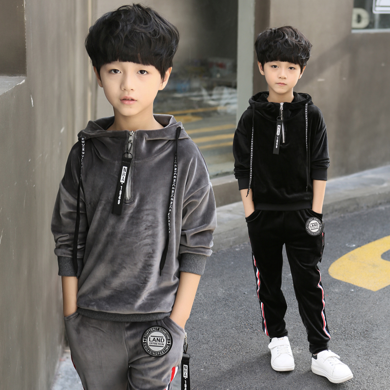 2018 Kids Sports Suit for boys Velvet Embroidery Animal Long Sleeve Shirt + Pant Set Girl Sweatsuit Autumn Children Clothing Set kryptek mandrake frog fighting suit police frog uniforms army trainning uniform set one long sleeve shirt and one tactical pant
