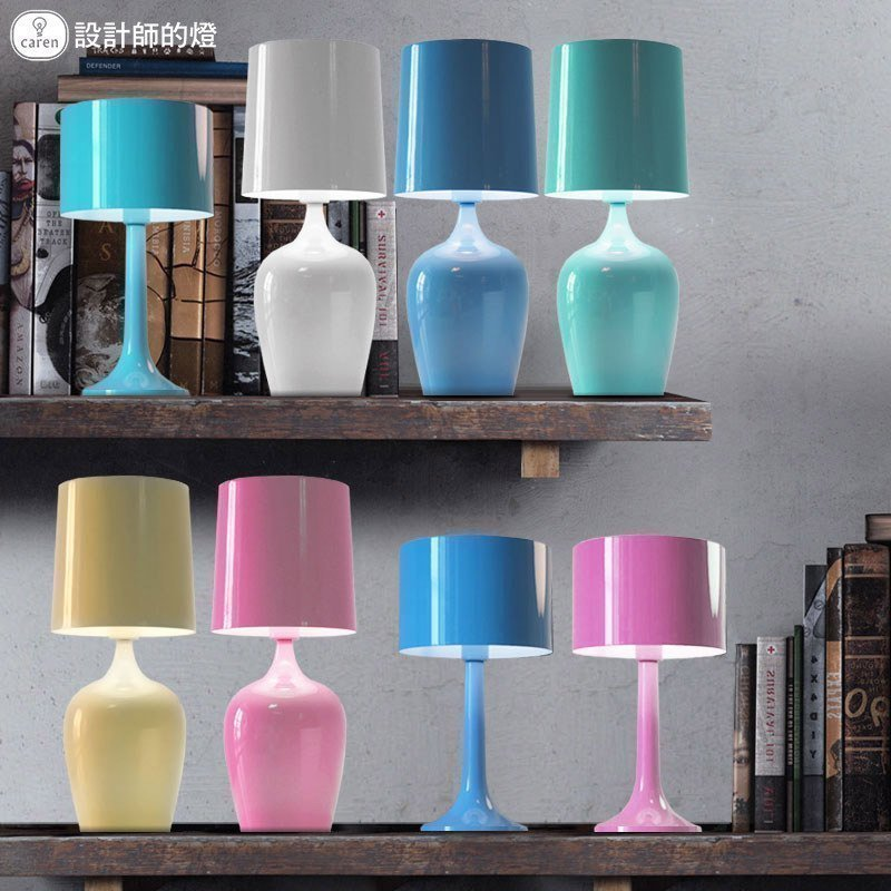 Lamp ofhead multicolour pink brief decoration vase lamp table lamp desk lamp modern brief fashion ofhead lamps table lamp
