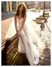 Платье невесты на тонких бретельках с сердечком сексуальное