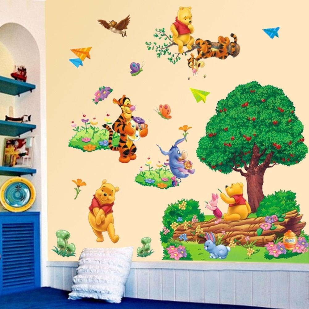 Aliexpress.com : Buy Large Cartoon Winnie The Pooh Wall Sticker Art Vinyl  Decals Nursery Decor From Reliable Nursery Decor Suppliers On Bob.