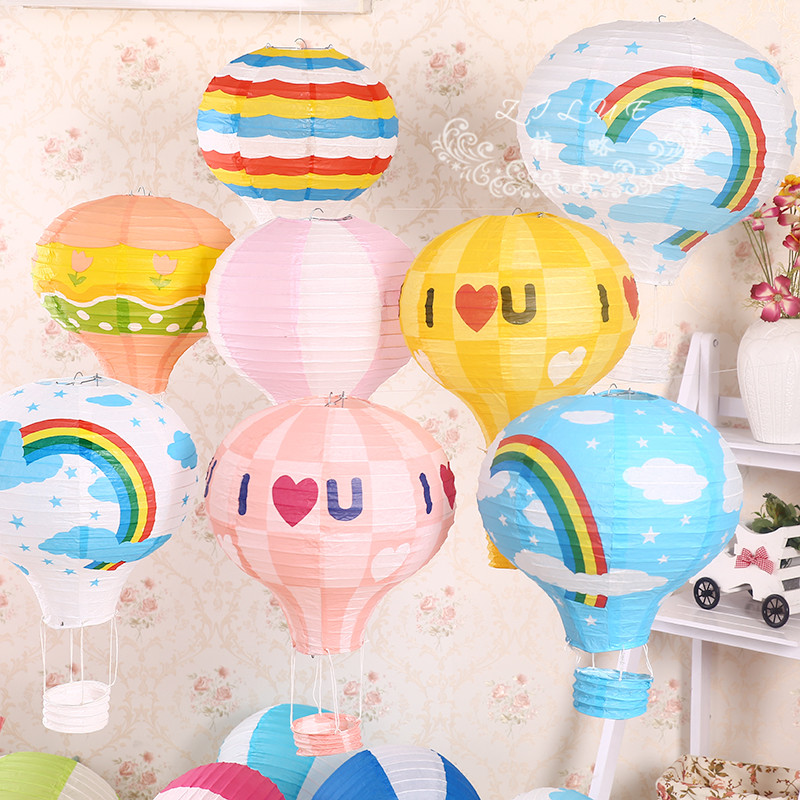 Hot sale fire balloon chinese paper lanterns wedding home for Balloon decoration for kids