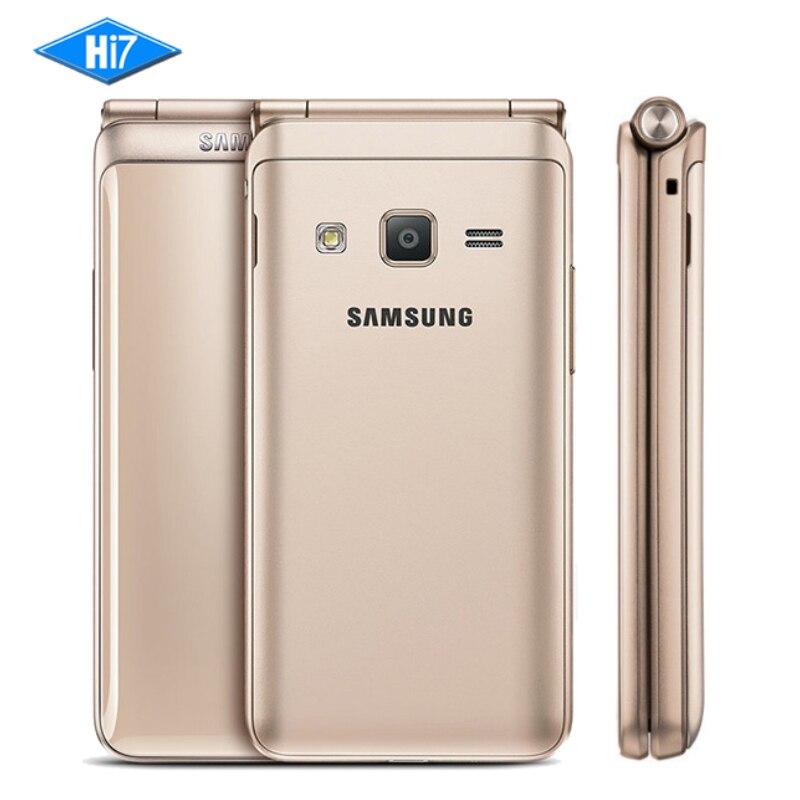 Новый разблокирована samsung Galaxy папка 2 G1650 4 ядра 8.0MP 3,8 Флип смартфонов 4G LTE Dual SIM 16 ГБ Встроенная память 2 ГБ Оперативная память мобильного теле...
