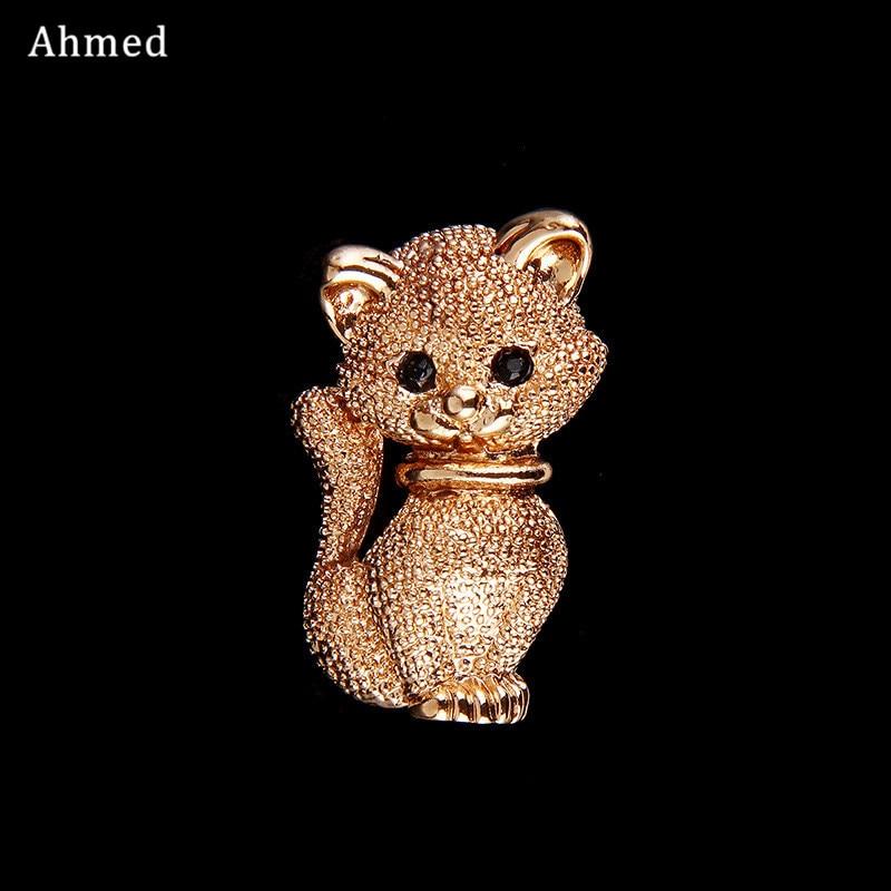 Ahmed Fashion Cute Little Gold Cat Brooches Pin Up Smykker Til - Mode smykker