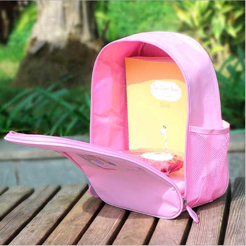 Rose / Pink Ballet Dance Bag Girl Kids Children Book Bag Waterproof School Gymnastics Bag Ballet Backpack Bag