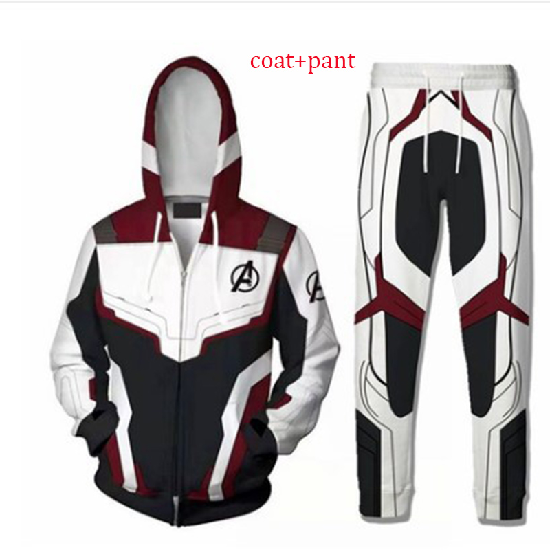 Avengers Endgame Hoodie Coat Pant Adult Cosplay Costume Endgame Quantum Realm Superhero Suit Advaced Tech Tony Stark Hoodie
