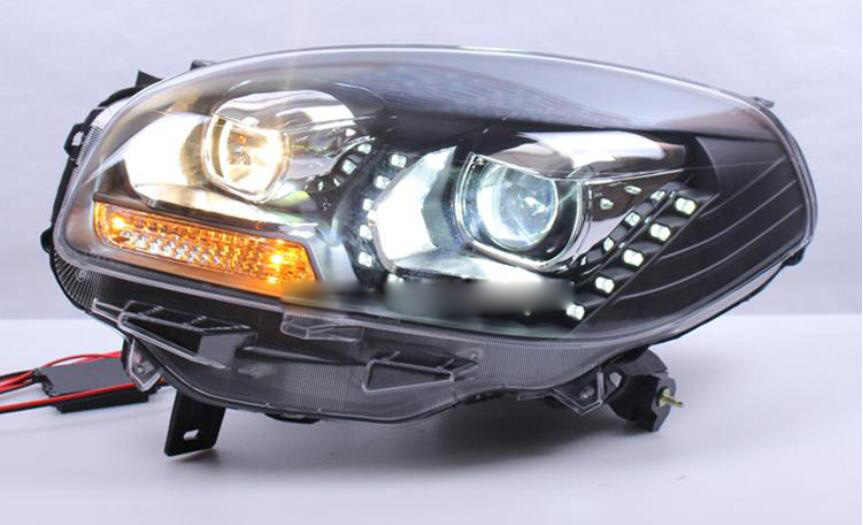 Bumper lamp for Renualt koleos Headlight 2009 2010 2011 2012 2013 DRL Bi Xenon Lens HI LO Parking HID Fog Lamp koleos Taillight
