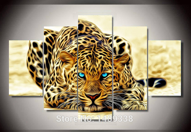Free shipping Hot Sell Leopard Canvas picture Art Print Painting ...