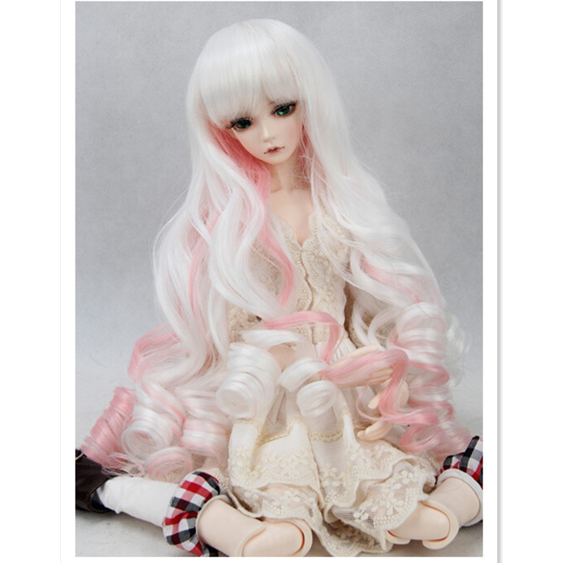 New Doll Wig Hair Wavy Wigs for Dolls,1/3 /1/4 1/6 BJD Doll Wig Accessories for Dolls,High-Temperature Wire Handmade Curly Hair