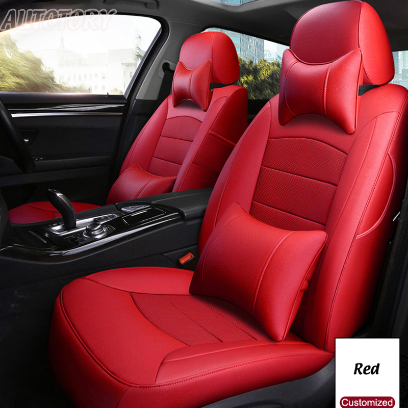 Autotory Custom Cowhide Cover Seat for Toyota PRADO Automobiles Seat Covers Cars Leather Cushion 5 & 7 Seats Support Accessories