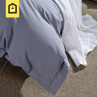 Brand 100 Cotton Modern Brief Solid Duvet Cover Europe Style Home Textile High Quality Grey White