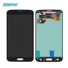 Negro para Samsung Galaxy i9600 S5 G900 G900F Pantalla LCD Táctil Digitalizador Asamblea piezas de Repuesto Completa, Envío libre!