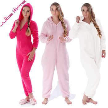 Winter Warm Pyjamas Women Onesies Fluffy Fleece Jumpsuits Sleepwear Overall Plus Size Hood Sets Pajamas Onesie For Women Adult - DISCOUNT ITEM  48% OFF All Category