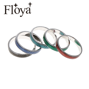 Floya Red Enamel Inner Rings Stackable Copper Argent Femme Filled Ring Vintage 4mm Width Interchangeable Combination Band(China)