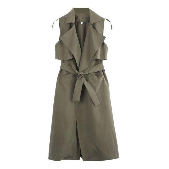 Осень Для женщин пальто жилет Весте Femme верхняя одежда зима Для женщин тонкий длинный жилет без рукавов