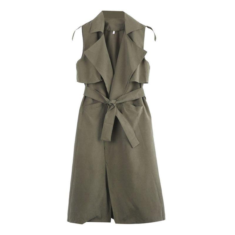 शरद ऋतु महिला कोट Waistcoat Veste Femme - महिलाओं के कपड़े