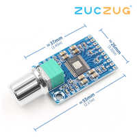 high power micro digital power amplifier board, TPA3116D2 chip, dual 50W, high definition sound, 12-24V