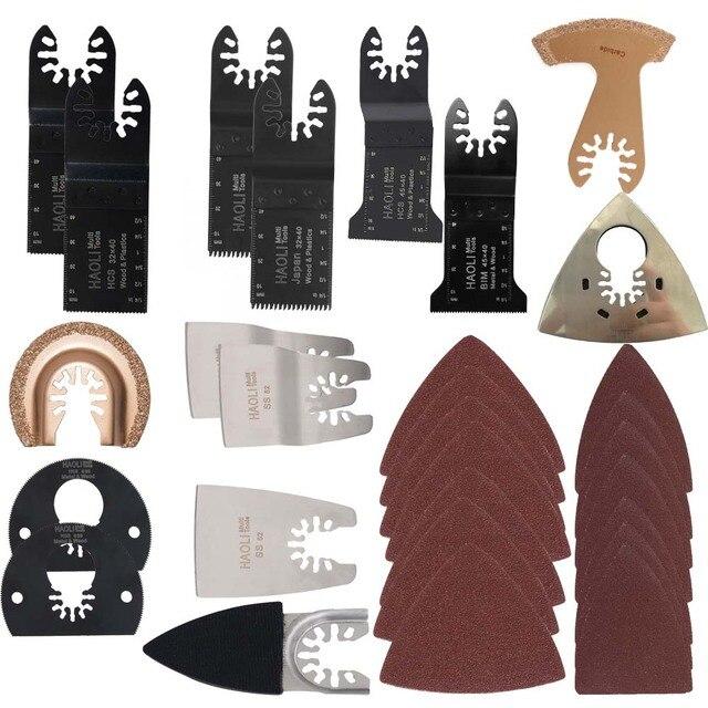 100 pc mix mudança rápida oscilante ferramenta multi lâmina de serra para Black & Decker, Dewalt