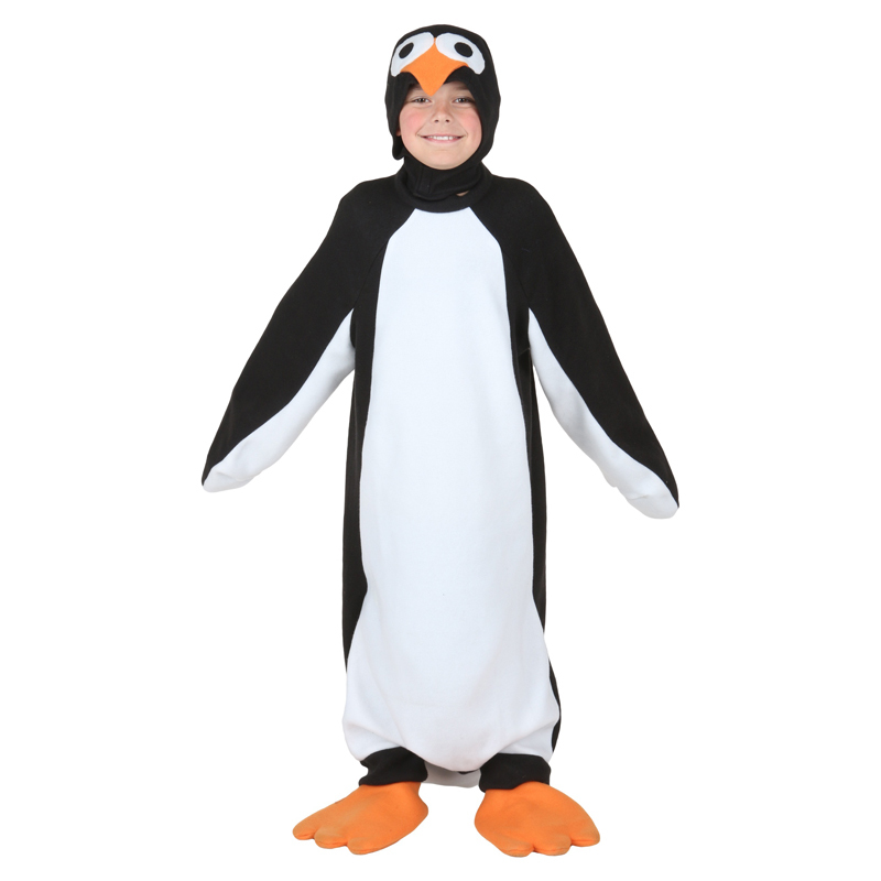Child Happy Penguin Costume Kids Animal Halloween Carnival Party Cosplay Fancy Dress
