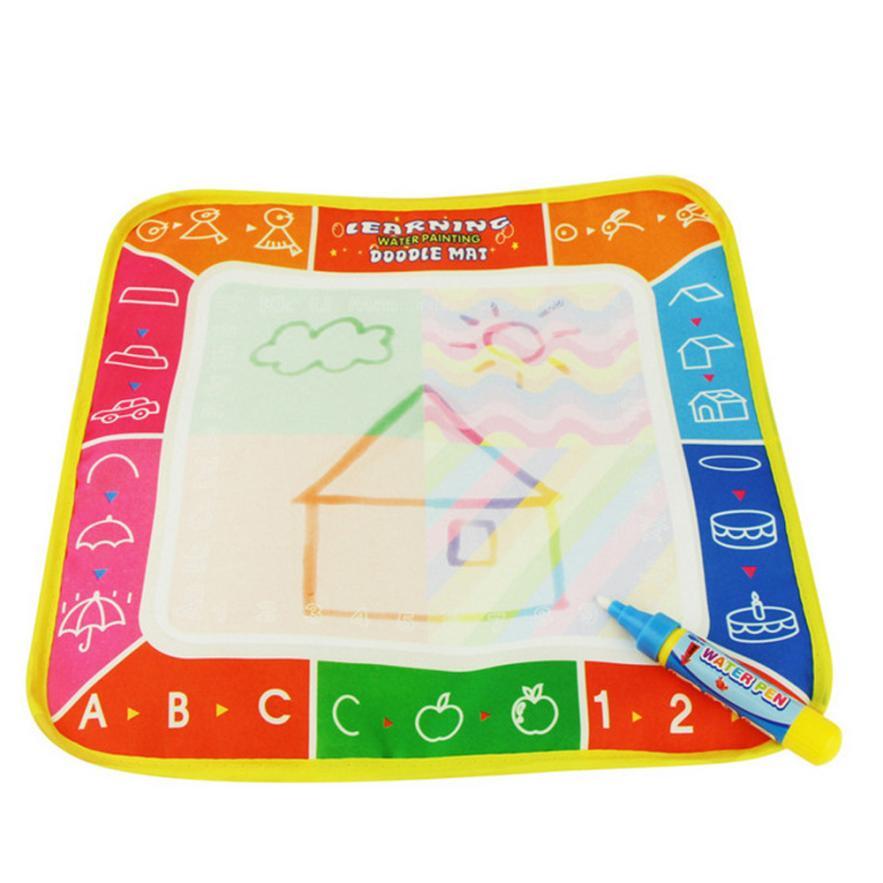 Лидер продаж Детские Дети вода рисунок Коврики доска для рисования и записи каракули + Волшебное перо Игрушки для рисования для Детский под...