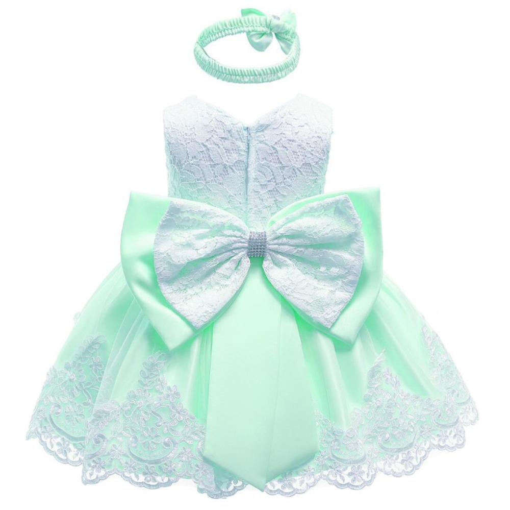 65b12cec38065 [Hot Sale] 2019 Baby Girls Dress Big Bowknot Infant Party Dress For Toddler  Girl First Brithday Baptism Clothes Double Formal Tutu Dresses ...