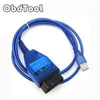Obdtool obd2診断ケーブル用フィアットvag usbインタフェース車のecuスキャンツール適応に含める4ウェイスイッチLR15