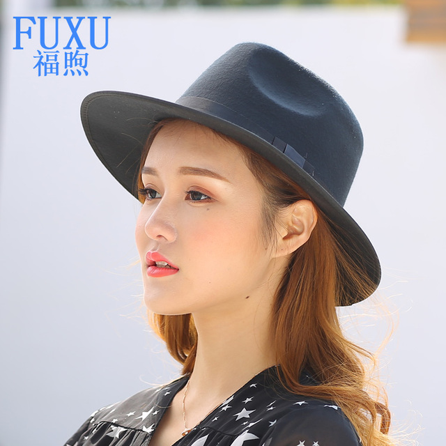 af16b60f5 US $15.5 | Fedora Hat Trilby Retro Gangster Cap Panama Hat Vintage rolled  woman unisex Jazz hat female michael jackson 57size-in Fedoras from Apparel  ...