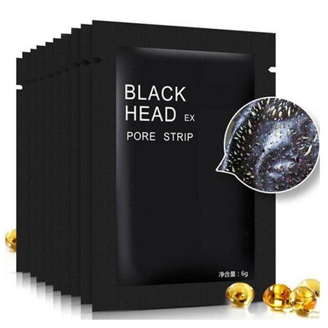 5 unids/lote mascarilla Facial negra para el cuidado de la nariz removedor de espinillas minerales limpiador de poros mascarilla negra para la cabeza maquiagem