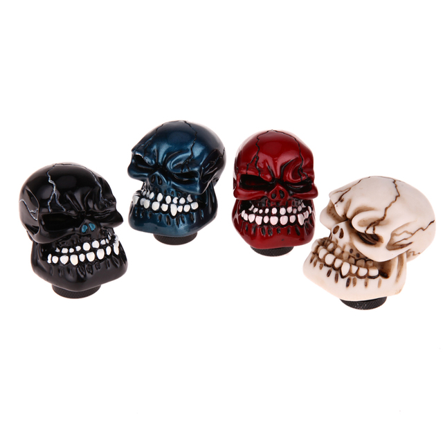 Car Gear Shift Knob Car Accessories Skull Shift Knob Modification Car Interior Accessory 4 colors Car Hand Brake Covers Case New