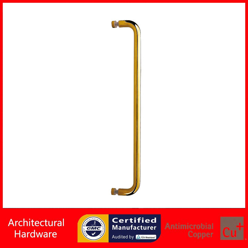 Gold Electroplated Shower Pull Handle Made Of Stainless Steel Available For Bathroom Glass Doors PA-197-19*629mm entrance door handle solid wood pull handles pa 377 l300mm for entry front wooden doors