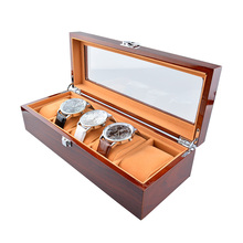 Fashion Watch Box Luxury Wood Watch Box with 5 Grid pillow pacakge Case watch Jewelry storage gift box Organizer caja reloj
