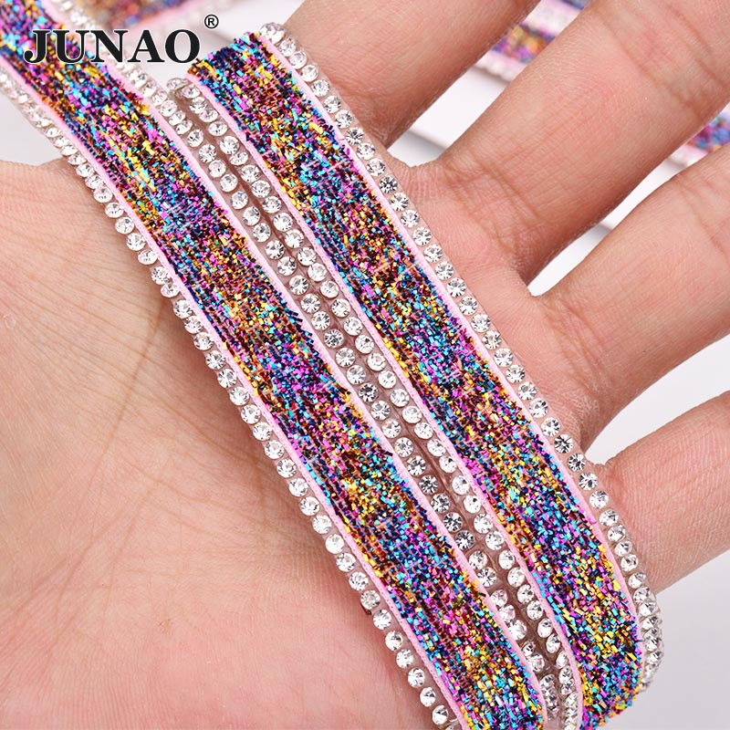 Shiny Resin Rhinestone Strip Tape Trims Ribbon Clothing Trimming Craft Acces DIY