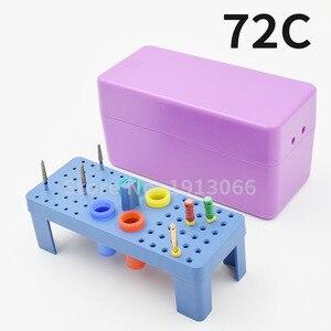 Image 4 - Caixa endodontia de plástico para esterilizar 72 furos, caixa autoclavável