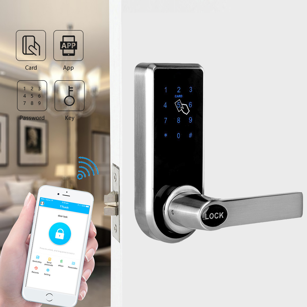 Hotel Door Lock RFID smart Card Systems With Security Door Digital Password Door Locks YOHEEN YJ818