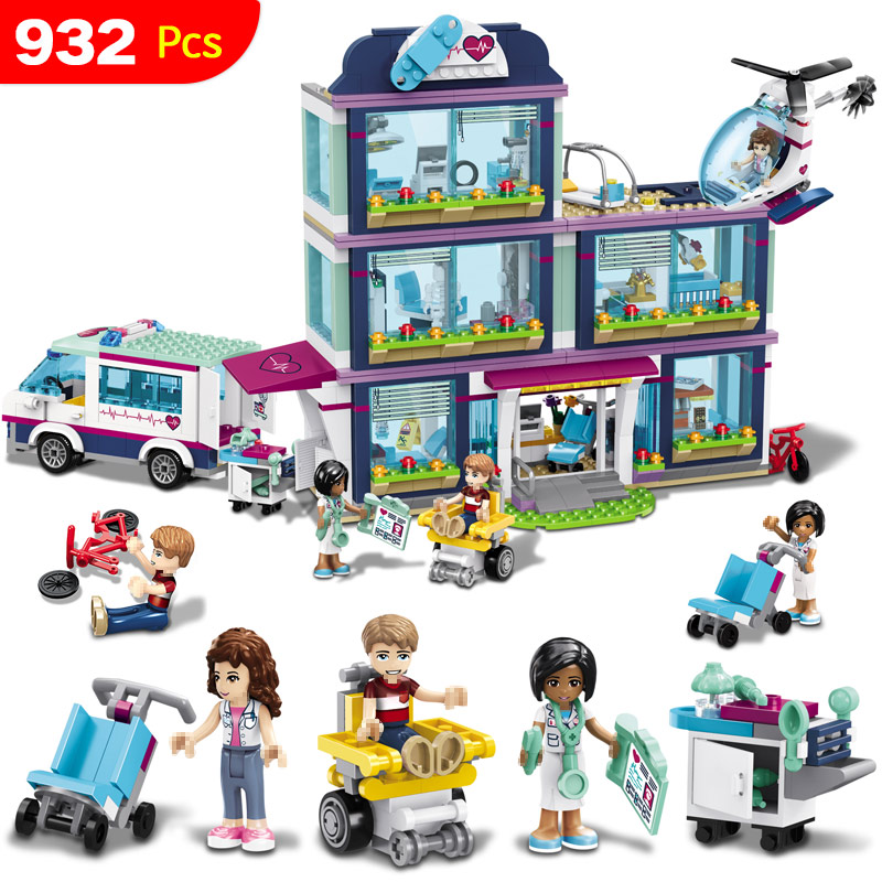 Hospital Girls Compatible With Legoing Friends Building Blocks Mini Bricks Toys For Children legoing toy girl gifts 10169 bela pet hospital building blocks toy set friends lepine bricks gift toys compatible with 3188 friends for girl