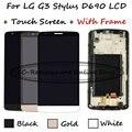 Negro/blanco/oro lcd + tp + frame para lg d690n g3 stylus d690 d693 pantalla lcd con pantalla táctil digitalizador sustitución smartphone