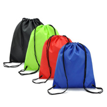practical Portable Polyester cloth drawstring bag advertising rope backpack bag custom nylon Oxford cloth bag pockets 7Zz–za390